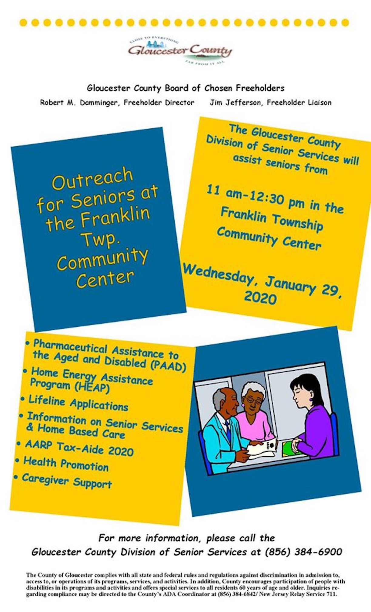 County Outreach at Community Center for Seniors Flier